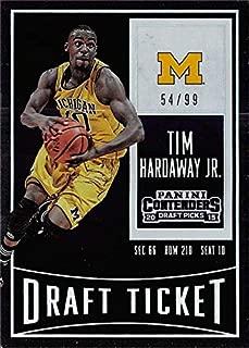 Tim Hardaway Jr. basketball card (Michigan Wolverines) 2015 Panini Contenders Draft Ticket Silver Insert #90 LE 54/99