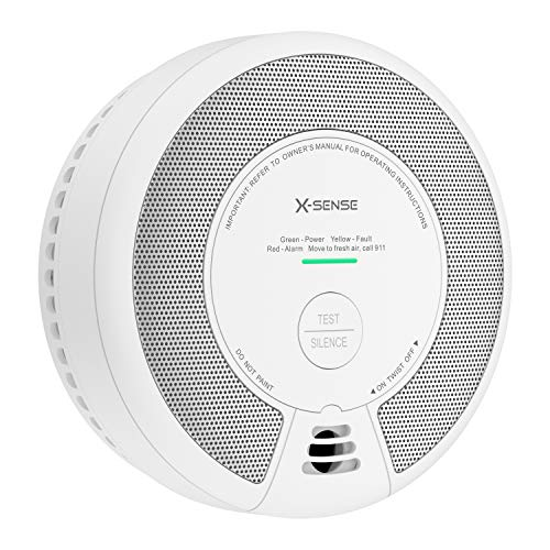 X-Sense 2-in-1 Smoke and Carbon Monoxide Detector Alarm (Not Hardwired), 10-Year Battery-Operated Dual Sensor Fire & CO Alarm, Compliant with UL 217 & UL 2034 Standards, SC06
