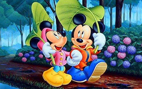 Rompecabezas de 1000 piezas para adultos, póster de la serie Mickey y Minnie I, rompecabezas, juguetes educativos, juegos, rompecabezas de desafío cerebral para niños, niños, adolescentes, 38x26cm