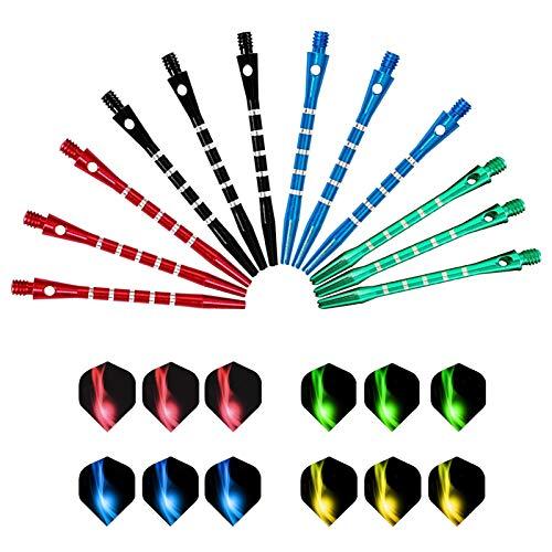LxwSin Eje de Dardo de Aluminio, Ejes de Dardos y Vuelos, 12