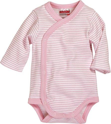 Playshoes Wickelbody Ringel Kleidung, Rosa (Weiß / Rose), 44 Unisex-Kinder
