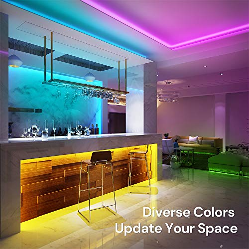 Govee Led Strip Lights, 16.4 Feet with App Control, Music Mode and 64 Scenes for Room, Kitchen 2