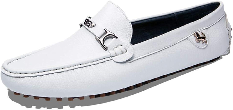 Q-MSKAY Herren Mokassins Mode Mikrofaser Leder Slip on Dekoration Schnalle Schnalle Schnalle Arbeiten Schuhe  004e6d