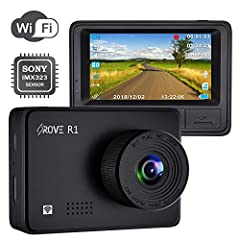 1080P FULL HD DASH CAM- Equipped with Novatek NTK96658 Processor, SONY IMX323 Sensor, A+ View Angle & WDR Technology (Wide Dynamic Range); which allows the Rove R1 Car Security Camera delivering the stunning image quality and crystal clear full HD (1...