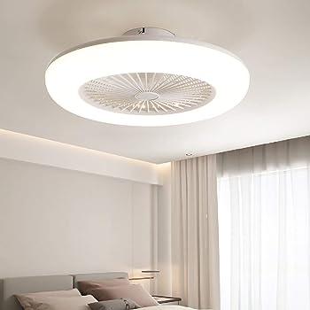 Gold Deckenventilator mit LED-Beleuchtung , Moderne Deckenleuchte , Fernbedienbare dimmbare Deckenleuchte 3-fach Wind , Leiser Deckenventilator,Schlafzimmerdekoration Innenventilatorbeleuchtung
