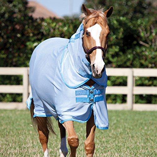 Horseware Amigo Pferdedecke, blau (Azure/Baby Blue), 66