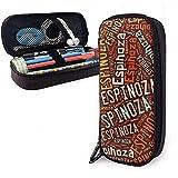 Espinoza - Apellido americano Estuche de cuero de alta capacidad Estuche de...