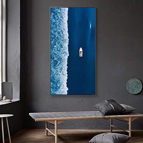 Abstrakte Moderne Ölgemälde Wandkunst Kunstdruck Poster Bildergalerie Dekoration Malerei Wohnzimmer Dekoration,Rahmenlose Malerei,75x150cm