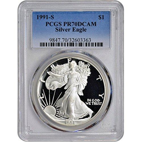 1991 S American Silver Eagle $1 PR-70 PCGS
