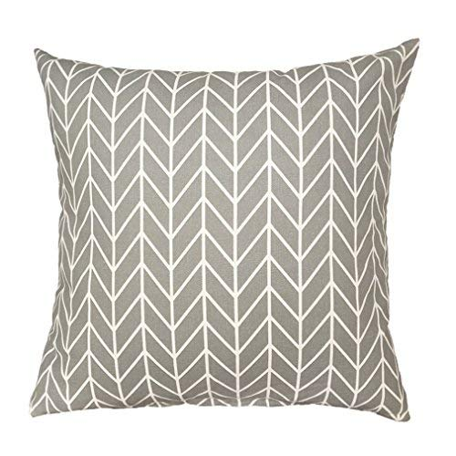 ZXKEE Cushion Covers Stylish Waves Decorative Throw Pillow Cases Square (Gray Stripes) Fundas para Almohada (50cmx50cm)