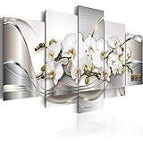 murando - Cuadro en Lienzo Orquidea 200x100 cm Abstracto Impresión de 5 Piezas Material...