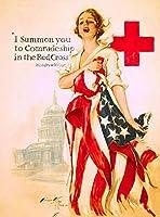 ERZAN1000ピース木製パズル赤十字の第二次世界大戦アメリカの愛国看護婦広告減圧ジグソーおもちゃキッズギフト