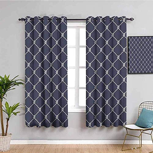 """ZLYYH Blackout Grommet Curtain Panels Simple Stylish Pattern Pattern W52 xL84(26""""x84""""x2 Panels) Blackout Curtains, Rod Pocket Thermal Insulated Darkening Window Drapes for Bedroom, Cute Boys Girls Ro"""