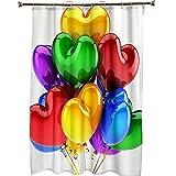HJKGSX Duschvorhang Bunte Luftballons Top Qualität Wasserdicht, Anti-Schimmel-Effekt 3D Digitaldruck mit 12 Duschvorhangringe für Badezimmer 180 x 200 cm