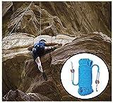 Corde de sauvetage de sauvetage corde escalade statique de 10 mm for échapper au feu extérieur multifonctionnel résistant à la déchirure résistant à l'usure facile à transporter la corde de descente d