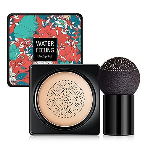 BB Cream, CC Creme, Líquida Fundación, Mushroom Head Air Cushion BB Cream, Ocultador, Base de Maquillaje, Maquillaje de Larga Duración, Hidratante Corrector Permeable al aire Brillo natural(1pcs)