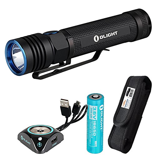 Olight S30R III 1050 Lumens EDC LED Rechargeable Flashlight with Magnetic Charging Dock and LumenTac Premium Holster)