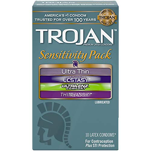 Trojan Sensitivity Variety Pack Lubricated Condoms - 10 Count (Packaging May Vary)