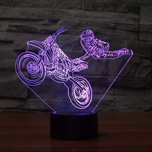 3D Cascades de Moto LED Lampe Art Déco Lampe Lumières LED Décoration Lampes Cadeau Veilleuse Touch Control 7 Couleurs Change Alimenté par USB Enfants Cadeau Anniversaire Décoration de Noël
