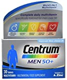 Centrum Men 50 Plus Multivitamins and Minerals Tablet | 30 Tablets (1 Month Supply) | 24 Essential nutrients Vitamins and Minerals Tailored for Men Over 50 l Vitamin D | Complete from A - Zinc*