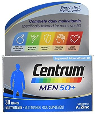 Centrum 50 Plus Multivitamin Tablets for Men, Pack of 30
