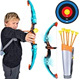 Island Genius LED Bow and Arrow Archery Set Indoor Outdoor Games Toys and Gifts for Kids Boys and...