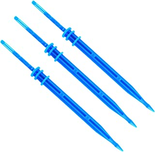 Yardwe 50PCS Irrigation Drippers Drip Emitters Water Flow Drip Irrigation System for Flower Vegetable Gardens Herbs (Blue)