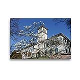 CALVENDO Premium Textil-Leinwand 45 x 30 cm Quer-Format Schloss Heiligenberg (Seeheim-Jugenheim), Leinwanddruck von Gert Kropp
