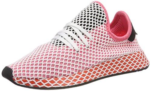 adidas Damen Deerupt Runner W Gymnastikschuhe , Rosa (Chalk Pink S18/chalk Pink S18/bold Orange), 36 EU