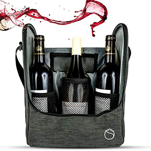 Freshore 3 Wein-Reise-große Flasche Isoliertaschen-Tasche als Lehrer- / Paar- / Mitarbeiter-Geschenke - Pfeil-Grün
