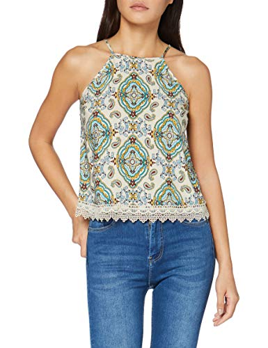 Springfield Bajo Crochet-c/95 Blusa, Verde (Dark_Khaki 95), 38 (Tamaño del Fabricante: 38) para Mujer