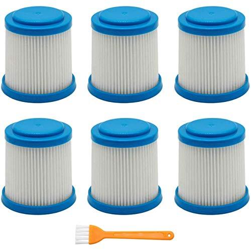 7 paquetes VPF20 filtros de repuesto Smartech Pet Litio 2 en 1 Accesorios para aspiradoras de aspiradora de filtro Filtros Cepillo