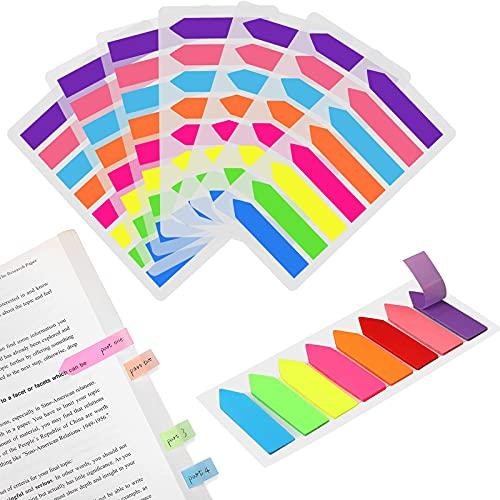 TCOLS 1120 Stück Klebemarkierungen, Seitenmarker-Tabs Index-Tabs Haftnotizen Beschreibbare Etiketten für die Seitenmarkierung Kleine Notizen( 2 Stile)