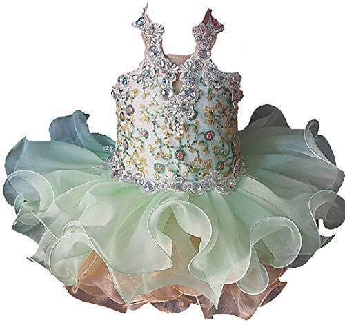 Jenniferwu Infant Toddler Baby Newborn Little Girl's Pageant Party Birthday Dress G040-8 Green Size 18-24M