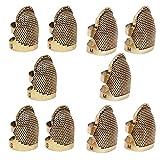 Dedal de Costura de Metal,Qiundar 10 Piezas Coser Dedal Protector de Dedos Costura Thimble Sewing Protector Costura de...