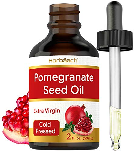 Pomegranate Seed Oil 2 oz |for Face & Hair Cold Pressed | Unclogs Pores, Promotes Clear Skin, and Reduces Appearance of Fine Lines and Wrinkles | SLS & Paraben Free | By Horbaach