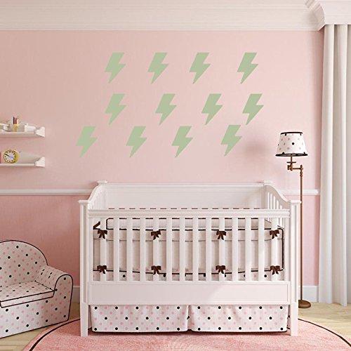 GOUZI Blitz Gemälde PVC-Fernseher Sofa C Wall Sticker abnehmbare Wall Sticker für Schlafzimmer Wohnzimmer Hintergrund Wand Bad Studie Friseur