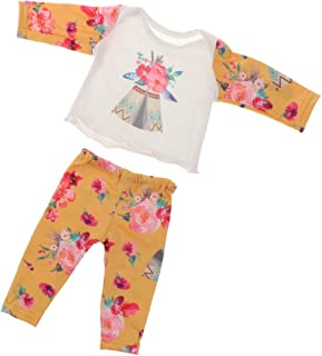 F Fityle Adorable Cotton Nightgown Pajamas Clothes Suit for 18inch American Doll Doll for 16-18inch Baby Doll Reborn Doll ...