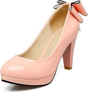 BalaMasa Womens APL12274 Pu Platform Heels