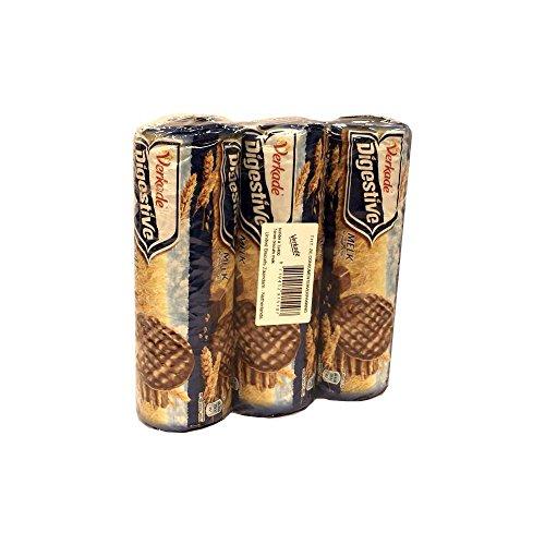 Verkade Digestive Melk 3 x 400g Packung (Gebäck mit Vollmilchschokolade)