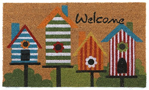 CastleMats 'Birdhouse Welcome Doormat Non-Slip, Durable,...