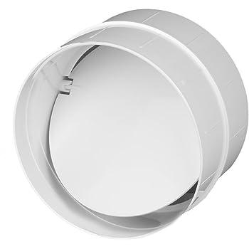 Invero/® 100 mm 135 grados redondo conducto codo curvado 4 pulgadas pl/ástico PVC ventilaci/ón conducto conector de tuber/ía