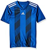 adidas Juniors' Striped 19 Soccer Jersey, Bold Blue/White, Small