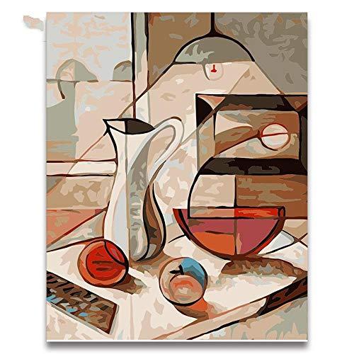 Pintura Al Óleo Abstracta Cuadro De Comedor Cuadros Por Números Bodegón Dibujar...