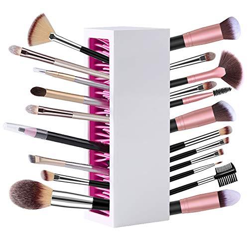 Makeup Brush Holder Makeup Organizer Silicone Make up Brushes Storage Stand...