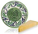 RYBE - Grattugia per parmigiano, noce moscata, zenzero, verdure, mela, formaggio, alimenti per bambini, prepara grattugia, grattugia in ceramica, grattugia al limone, multi-grattugia verde