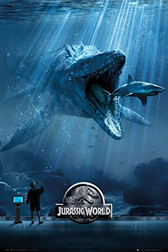 Jurassic World - Movie Poster/Print (Mosasaurus - Regular Style) (Size: 24 inches x 36 inches)