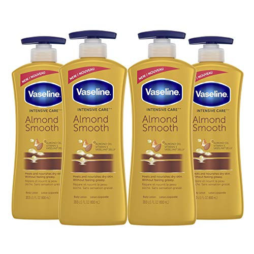 Vaseline Intensive Care hand and body lotion for Rich Moisturization Almond Smooth 20.3 oz 4 Count