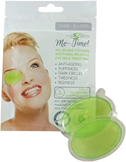 Re-usable under-eye gel treatment pads by EyeSlices® - anti ageing, for puffy eyes, get rid of dark circles, tiredness, redness, fine lines and wrinkles - 1 pair, use 10 times