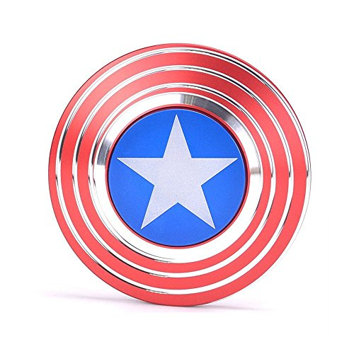 Cubier Fidget Hand Spinner, Anti-Anxiety Stress Relief Toy Fidget Spinner EDC ADD ADHD Focus Toy for Kids and Adults (Captain America)
